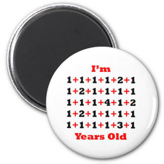 39 Years old Blk Red 2 Inch Round Magnet