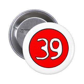39er's Swirl clear 2 Inch Round Button