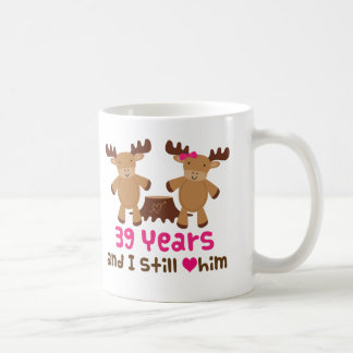 39th Anniversary Gift For Her Coffee Mug