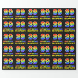 [ Thumbnail: 39th Birthday: Bold, Fun, Simple, Rainbow 39 Wrapping Paper ]