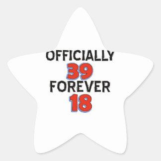 39TH birthday designs Star Sticker