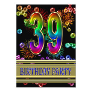 39th Birthday Invitations Announcements Zazzle