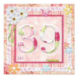 39th birthday party scrapbooking style card