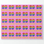 [ Thumbnail: 39th Birthday: Pink Stripes & Hearts, Rainbow # 39 Wrapping Paper ]