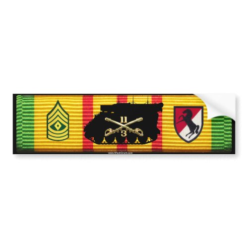3/11th ACR 1st Sgt M577 Command Track Sticker zazzle_bumpersticker