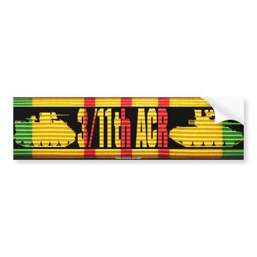 3/11th ACR VSM Ribbon Cut-Out Bumper Sticker zazzle_bumpersticker