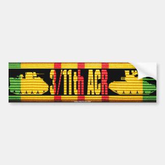 3/11th ACR VSM Ribbon Cut-Out Bumper Sticker Car Bumper Sticker