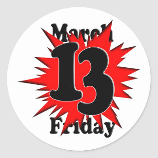 3-13 Friday the 13th Classic Round Sticker