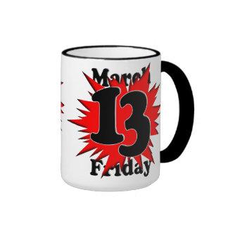 3-13 viernes el décimotercero tazas de café