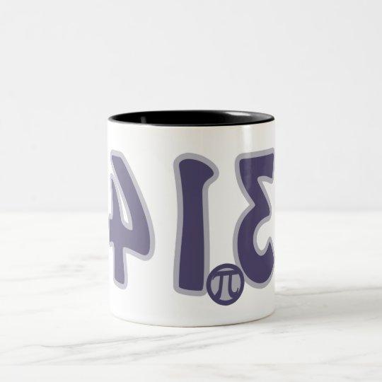 3.14 Backwards looks like pie Pi Day Two-Tone Coffee Mug
