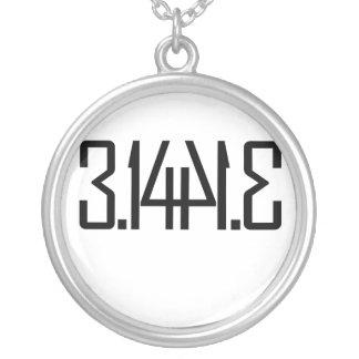 3.15 pie round pendant necklace