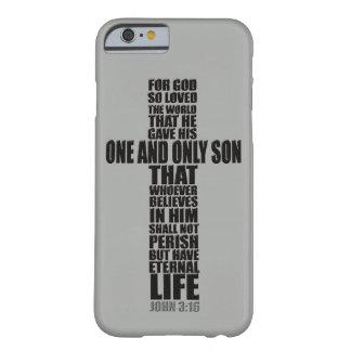 3 16 cristiano de Juan del verso de la biblia Funda De iPhone 6 Slim