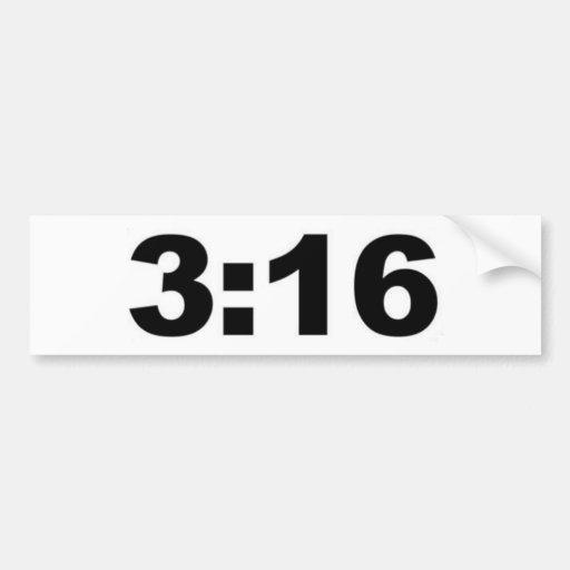 3:16 de Juan - cristiano Pegatina De Parachoque