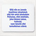 3:16 de Juan finlandés Alfombrillas De Ratón