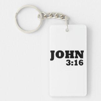3:16 de Juan Llavero Rectangular Acrílico A Doble Cara