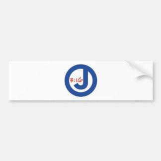 3:16 de Juan (logotipo único) Pegatina De Parachoque