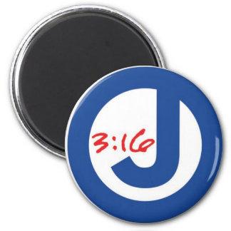 3:16 de Juan (logotipo único) Imán