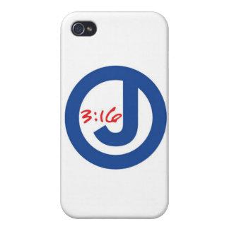 3:16 de Juan (logotipo único) iPhone 4 Cárcasa