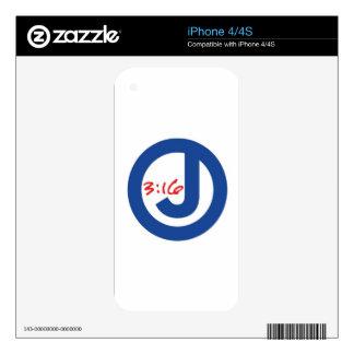 3:16 de Juan (logotipo único) iPhone 4 Skin
