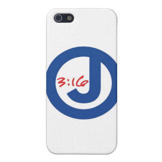 3:16 de Juan (logotipo único) iPhone 5 Cárcasa