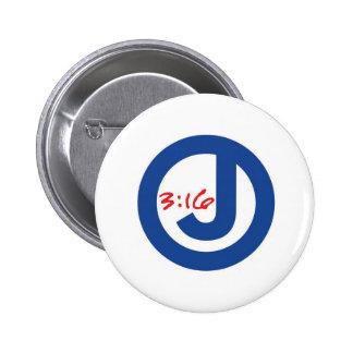 3:16 de Juan (logotipo único) Pins
