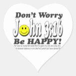 ¡3:16 de Juan - no se preocupe sea feliz! Pegatina En Forma De Corazón