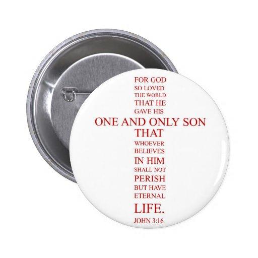 3:16 de Juan - para dios amó tan el mundo Pin