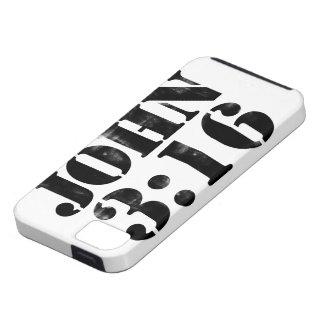 3:16 de Juan para DIOS iPhone 5 Case-Mate Funda