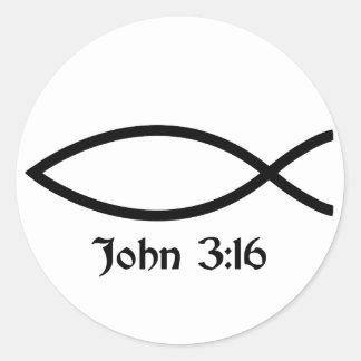 3:16 de Juan Etiquetas Redondas