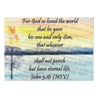 3:16 de Juan que comparte la tarjeta Tarjetas De Visita Grandes