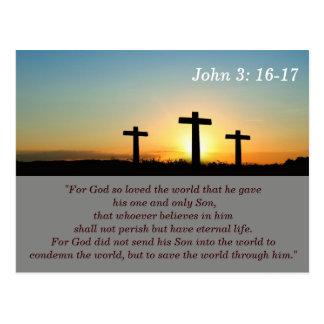 3:16 de Juan - tarjeta de memoria de 17 escrituras Postales