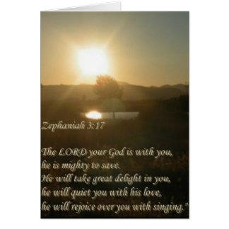3:17 de Zephaniah Tarjeta