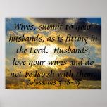 3:18 de Colossians del recordatorio de la boda del Poster