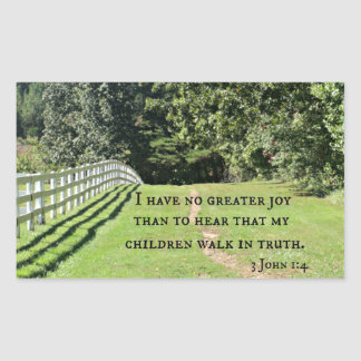 3 1:4 de Juan no tengo ninguna mayor alegría que Pegatina Rectangular