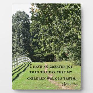 3 1:4 de Juan no tengo ninguna mayor alegría que Placa De Madera