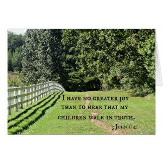 3 1:4 de Juan no tengo ninguna mayor alegría que Tarjeta De Felicitación