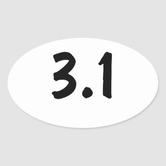 3.1 / 5k oval sticker