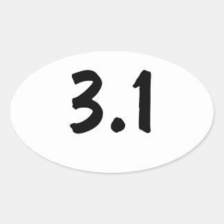 3,1/5k pegatinas de ovaladas