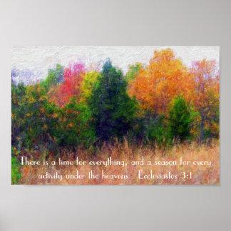 3:1 de Ecclesiastes del verso de la biblia de la e Póster