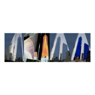 3:1 Freedom Tower 4 shades n angles collection Poster