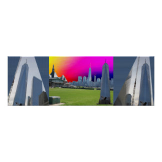 3:1 Freedom Tower NewYork 3 shades n angles photo Poster