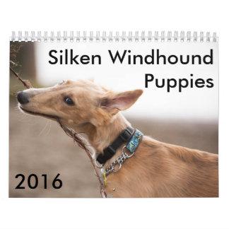 3 2016 Silken Windhound Puppies Calendar
