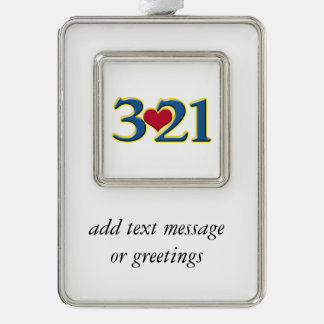 3-21 World Down Syndrome Day Christmas Ornament