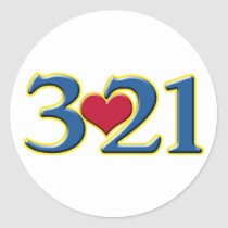 3-21 World Down Syndrome Day Classic Round Sticker
