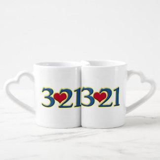 3-21 World Down Syndrome Day Couples' Coffee Mug Set