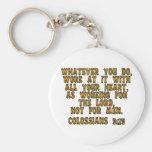 3:23 de Colossians Llaveros Personalizados