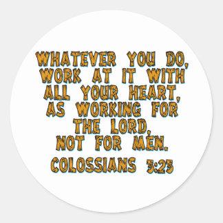 3:23 de Colossians Pegatina