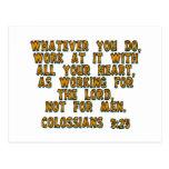 3:23 de Colossians Postales