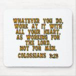 3:23 de Colossians Tapete De Raton