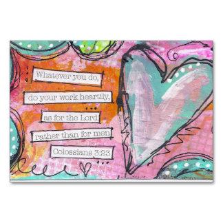 """3:23 /Horizontal 3,5"""" de Colossians x 5"""" tarjeta"""
